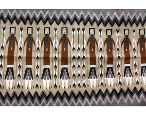 Margie Harvey, Yei Rug, Navajo Handwoven, 55 in x 35 in