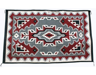 Load image into Gallery viewer, Alice Bahe Begay, Ganado Red Rug, Navajo Handwoven, 46 in x 74 in