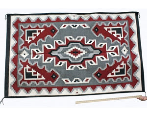 Alice Bahe Begay, Ganado Red Rug, Navajo Handwoven, 46 in x 74 in