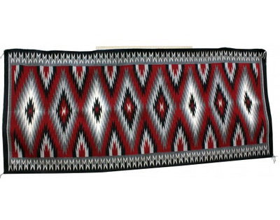 Load image into Gallery viewer, Mabel Clasthel, Eyedazzler Rug, Runner, Navajo Handwoven, 44 in x 100 in