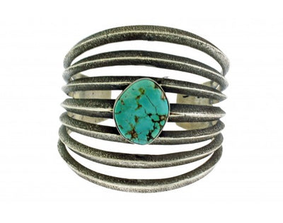 Load image into Gallery viewer, Aaron Anderson, Tufa Bracelet, Royal Blue Royston Turquoise, Navajo, 6 3/8