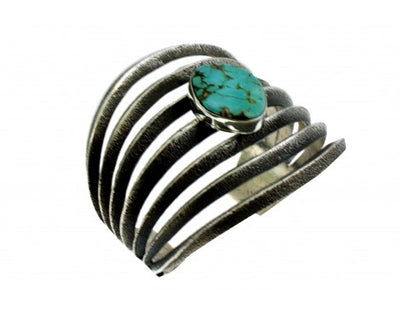 Load image into Gallery viewer, Aaron Anderson, Tufa Cast Bracelet, Royal Blue Royston Turquoise, Navajo