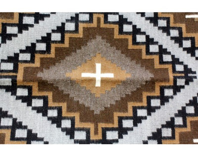 Load image into Gallery viewer, Marietta Begay, Two Grey Hills, Navajo Handwoven Rug, 30.5 in x 53.5 in