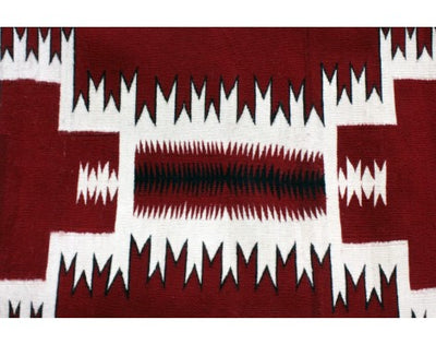 Load image into Gallery viewer, Susie Joe, Red Storm Pattern Rug, Navajo Handwoven, 42 in x 71 in