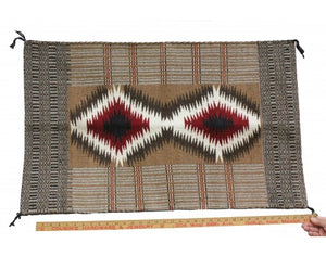 Virginia Snyder, Two faced Saddle Blanket, Navajo Handwoven, 23'' x 32 1/2''