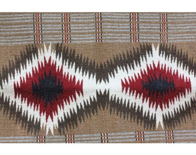 Load image into Gallery viewer, Virginia Snyder, Two faced Saddle Blanket, Navajo Handwoven, 23'' x 32 1/2''
