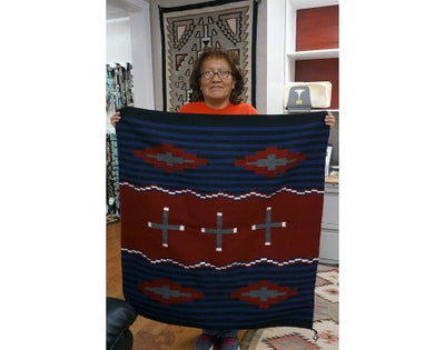 Load image into Gallery viewer, Janet Begay, Cheif Rug, Navajo Handwoven, 40 in x 41 in
