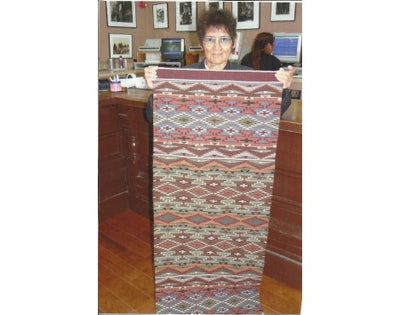 "Load image into Gallery viewer, Jeanette Swift, Wide Ruins Inspired, Navajo Handwoven, 50"" x 27"""