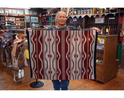 "Load image into Gallery viewer, Lena Tahe, Navajo Chinle Rug, Handwoven, 34""x 46"""