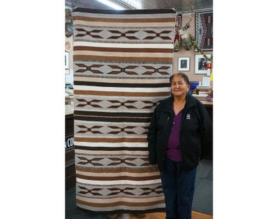 Load image into Gallery viewer, Lita Williams, Wide Ruins Rug, Navajo Handwoven, 81 in x 39 in