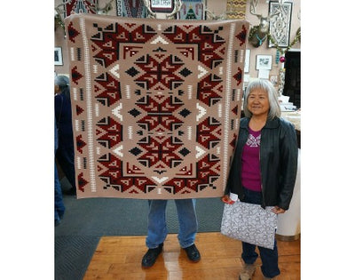 Load image into Gallery viewer, Loraine Posey, Ganado Rug, Navajo Handwoven, 45 in x 48 in