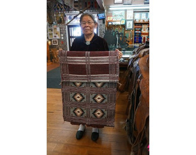 Load image into Gallery viewer, Lucy Wilson, Saddle Blanket, Two Faced, Navajo Handwoven, 24in x 46in