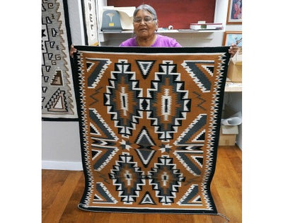 Load image into Gallery viewer, Marrita Gould, Teec Nos Pos Rug, Navajo Handwoven, 59 in x 43 in