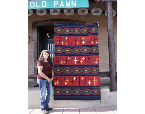 Marlene White, Chief Rug, Navajo Handwoven, 94 in x 55 in
