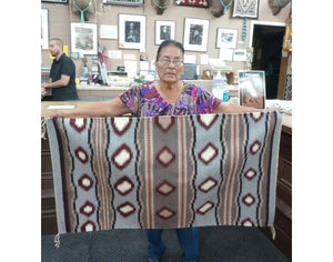 Martha Edsitty, Wide Ruins, Navajo Handwoven, 28'' x 52''