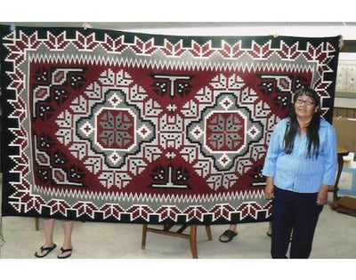 "Load image into Gallery viewer, Maggie Ethel, Ganado Red Rug, Navajo Wool, Contemporary, 63"" x 112"""