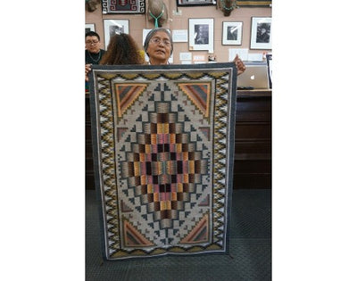 Load image into Gallery viewer, Sadie Charlie,  Burntwater Rug, Navajo Handwoven, 48in x 33in