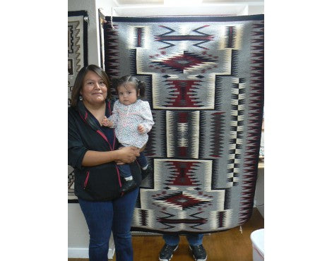 Theresa Begay, Storm Pattern, Navajo Handwoven, 69 in x 48 in