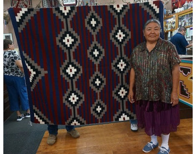 Load image into Gallery viewer, Zonnie Deschine, Navajo Chief Rug, Handwoven, 58.5 in x 73.5 in