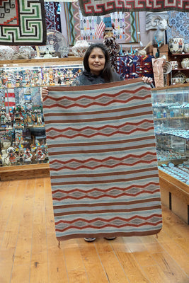 "Load image into Gallery viewer, Melvina Francis, Wide Ruins Rug, Navajo, Handwoven, 48"" x 32"""