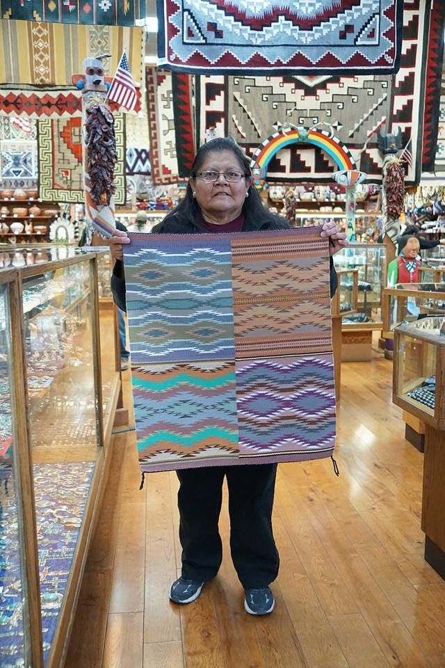 Rena Nelwood, 4 in One Rug, Navajo Handwoven, 24