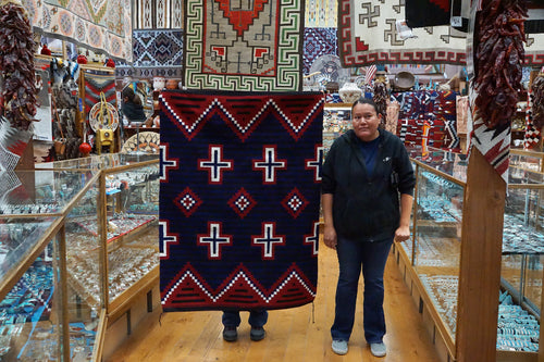 Theresa Begay, Navajo Rug, Chief Blanket, Handwoven, 57