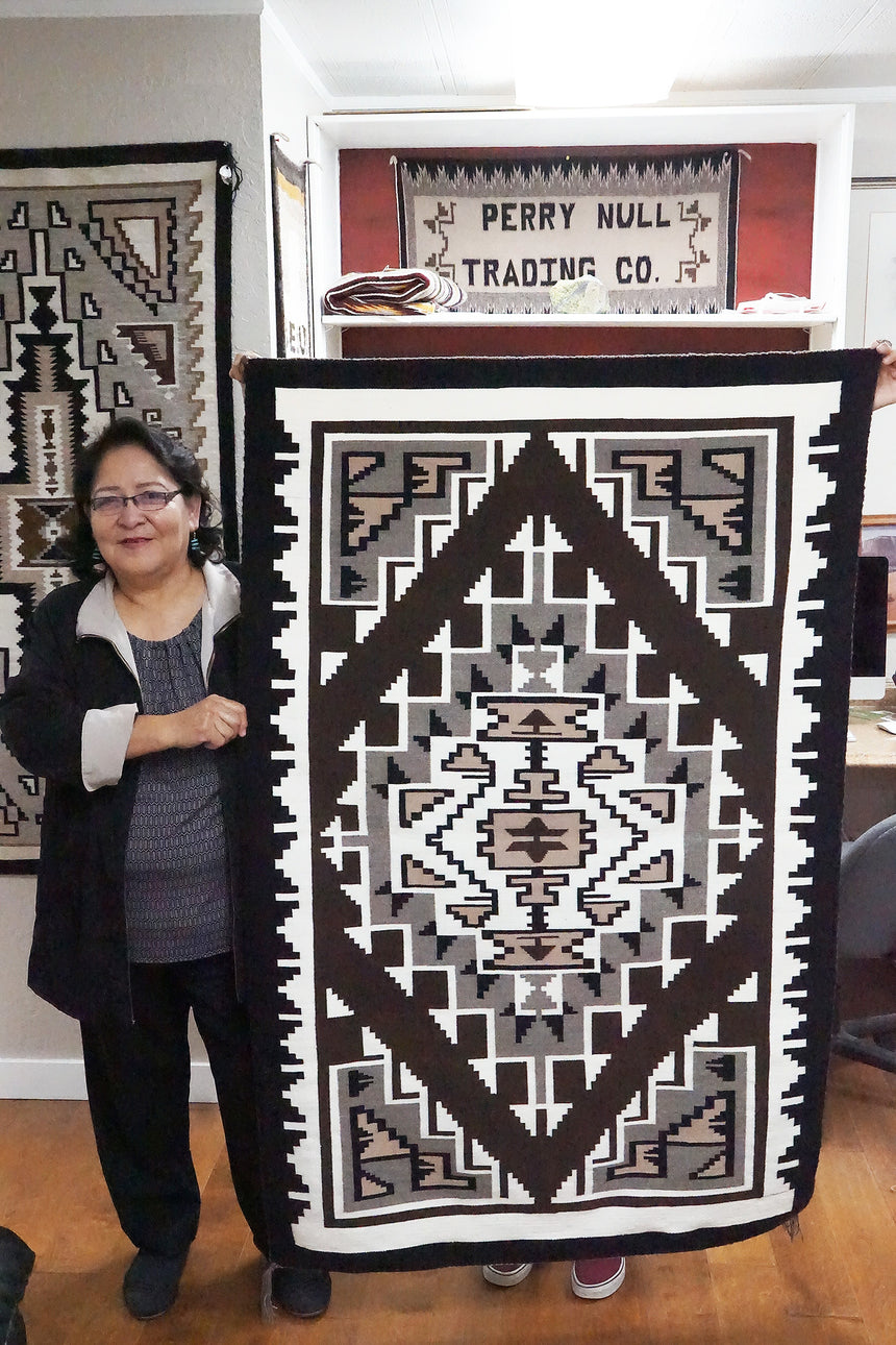 Veronica Begay, Two Grey Hills, Rug, Navajo, Handwoven, 39