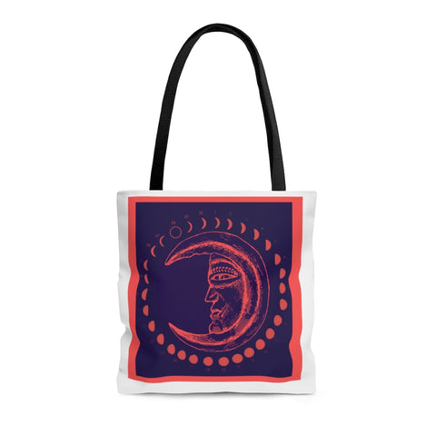 Moon Phases Shoulder Tote Bag - Roomy