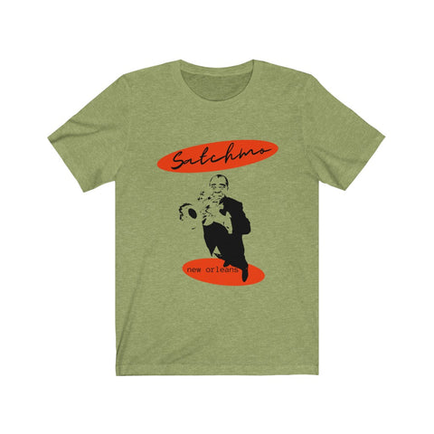 "Louis Armstrong ""Satchmo"" Unisex Jersey Short Sleeve Tee"