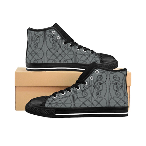 French Quarter Wrought Iron Women's High-top Sneakers