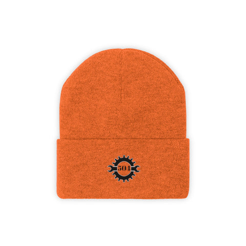 504 Bicyclist Embroidered Knit Beanie
