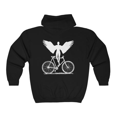 Ghost Bike Zip-Up Hooded Sweatshirt