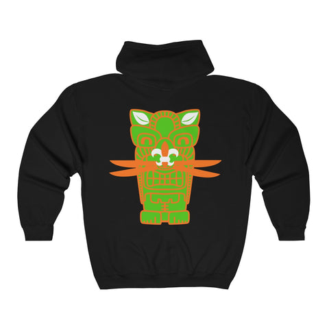 Tiki Rat Unisex  Full Zip Hooded Sweatshirt