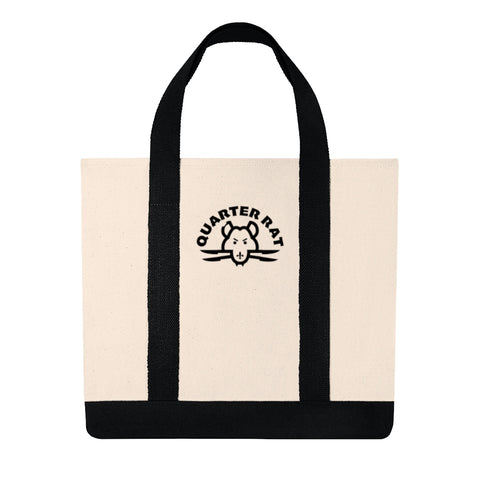Quarter Rat (embroidered )Shopping Tote