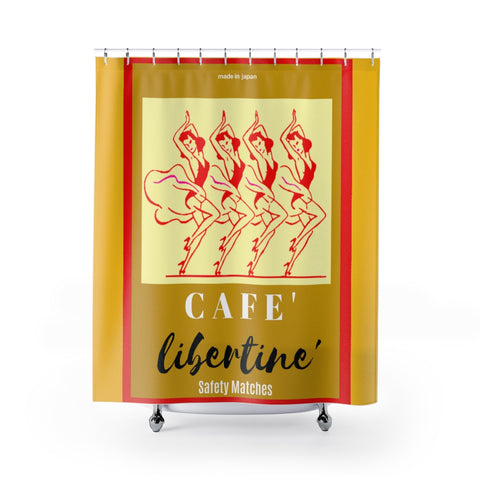 Faux Vintage  Matchbook Shower Curtains