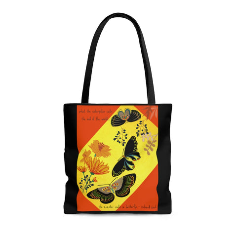 Butterfly Shoulder Tote Bag - Roomy