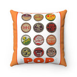 Vintage Bottle Cap Spun Polyester Square Pillow Cases