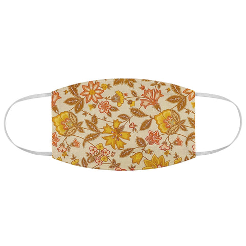 Yellow Flowers Fabric Face Mask