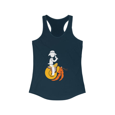 Hermit Crab Cowboy Women's Ideal Racerback Tank Tee-Shirt