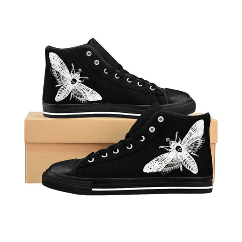 Death's Head Moth Men's High-top Sneakers