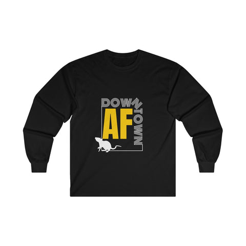 Downtown AF Rat Ultra Cotton Long Sleeve Tee