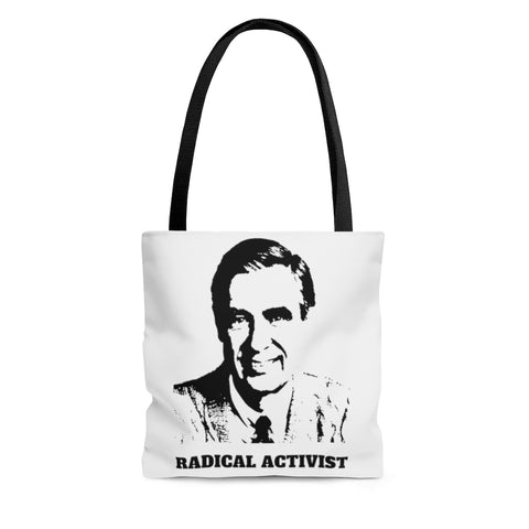 Mr. Rogers Radical Activist Shoulder Tote Bag
