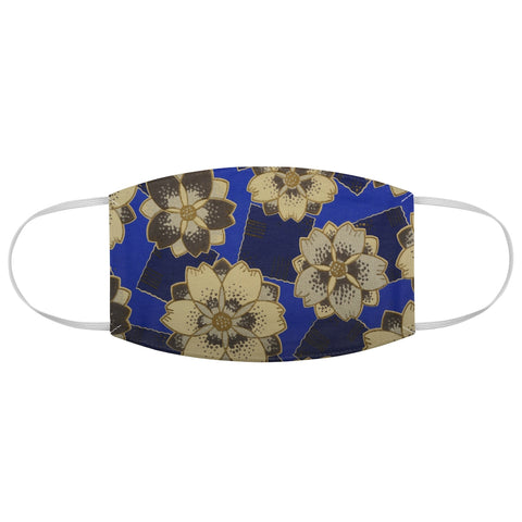 Lotus Flower Art Deco Fabric Face Mask