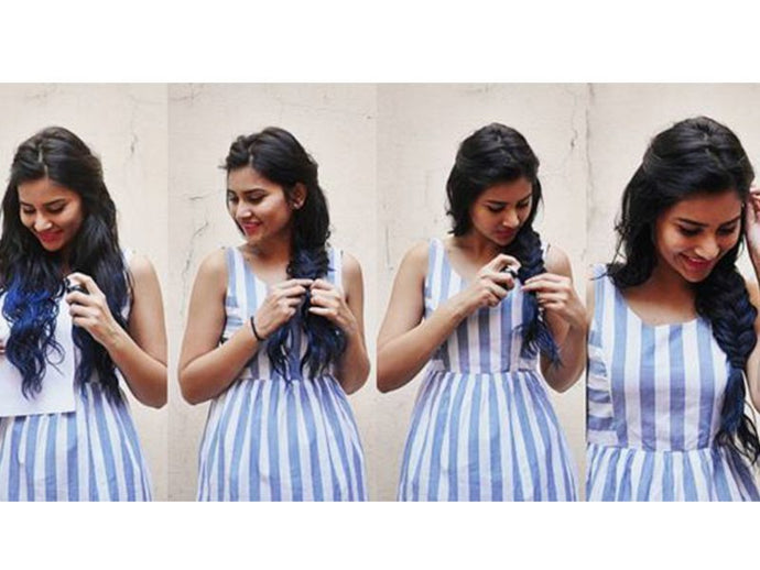 Get The Ombre Blue Braid With Shanaya S