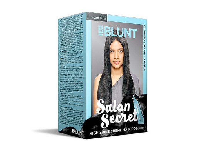 BBLUNT Salon Secret High Shine Crème Hair Colour In Black, Natural Black Review