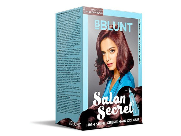 BBLUNT Salon Secret High Shine Crème Hair Colour In Mahogany Reddish Brown Review By Aesthetics
