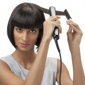 Step 3 – Use a straightener to get a sleeker, more finished look and to keep you hair looking voluminous yet intact.