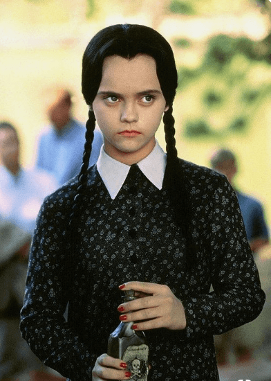 Addams family hairstyle