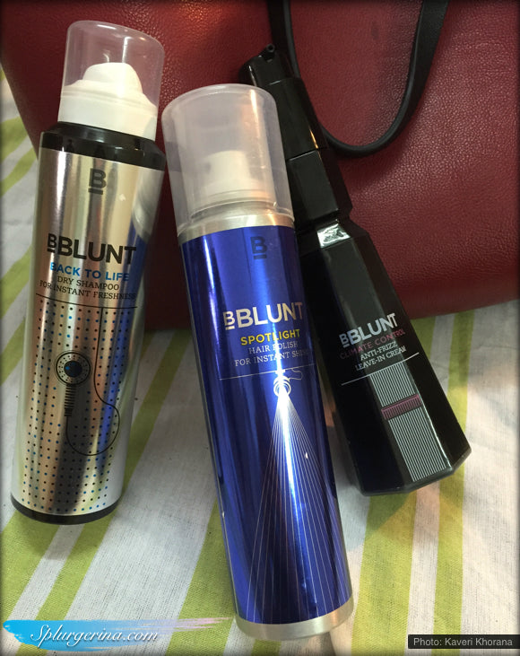 BBlunt Climate Control Anti-Frizz Leave-In Cream_Bblunt Spotlight Hair Polish_BBlunt Back To Life Dry Shampoo_hair_review_splurgerina