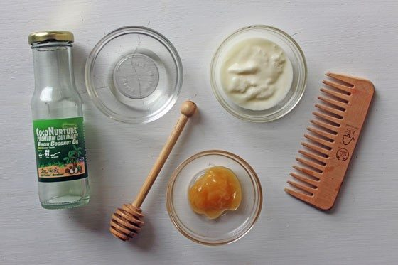 homemade hair mask for frizz control